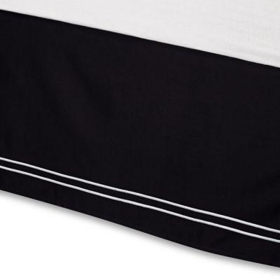 Wamsutta® Baratta Stitch Queen Bed Skirt in Black