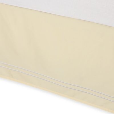 Wamsutta® Baratta Stitch Twin Bed Skirt in Butter