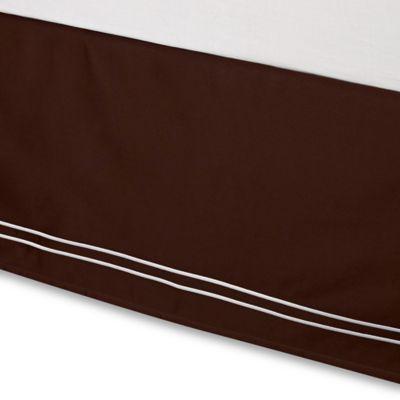 Wamsutta® Baratta Stitch Full Bed Skirt in Chocolate
