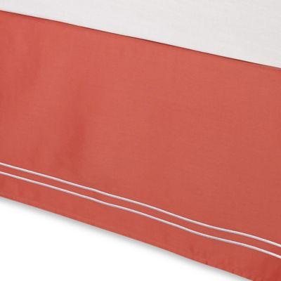 Wamsutta® Baratta Stitch Twin Bed Skirt in Coral