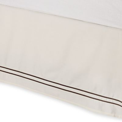 Wamsutta® Baratta Stitch Twin Bed Skirt in Ivory