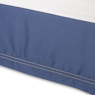 Wamsutta® Baratta Stitch California King Bed Skirt in Blue Jean