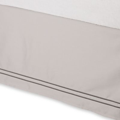 Wamsutta® Baratta Stitch Twin Bed Skirt in Oyster