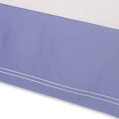 Wamsutta® Baratta Stitch King Bed Skirt in Periwinkle