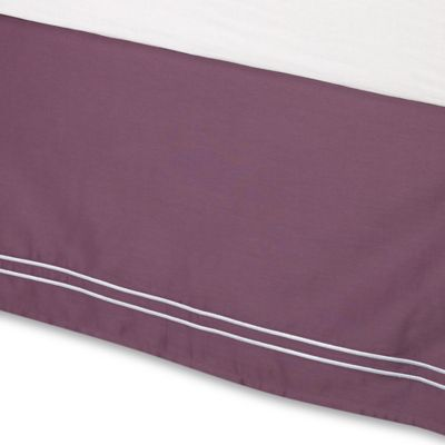 Wamsutta® Baratta Stitch Queen Bed Skirt in Purple