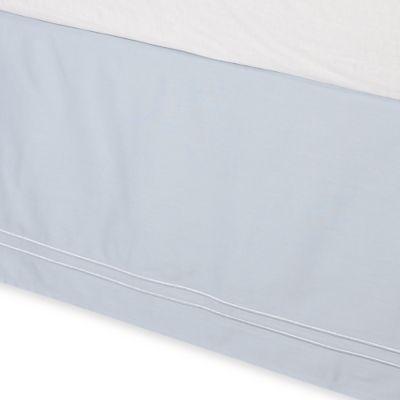 Wamsutta® Baratta Stitch Twin Bed Skirt in Sky