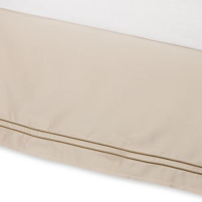 Baratta Stitch Full Bed Skirt in Taupe