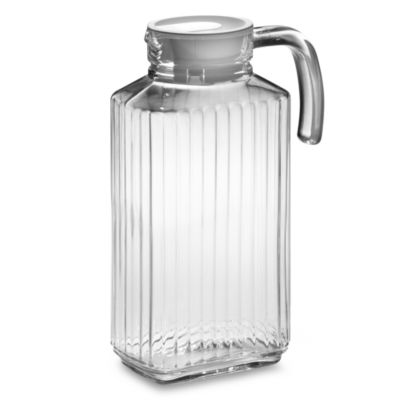 Glass Refrigerator Pitcher with Lid