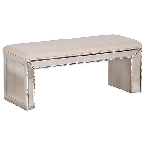 Buy Bassett Mirror Company Murano Antique Mirror Bench In Silverleaf From Bed Bath Beyond