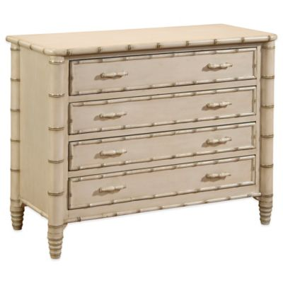 Bassett Mirror Company Biscayne 4-Drawer Chest in Antique Ivory