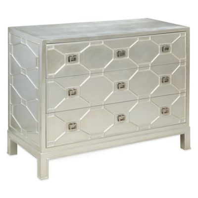 Bassett Mirror Company Sterling 3-Drawer Chest in Silverleaf
