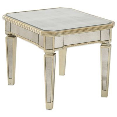 Bassett Mirror Company Borghese Mirrored Rectangle End Table