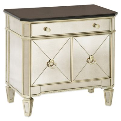Bassett Mirror Company Borghese Small Mirrored Chest