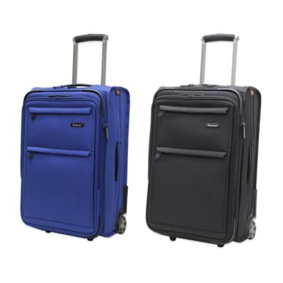 Pathfinder Revolution Plus 22-Inch Expandable Two-Wheeled Carry-On with Suiter in Blue