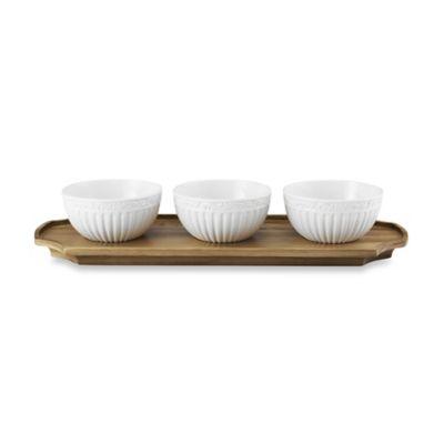 Mikasa® Italian Countryside Bowls on Acacia Tray