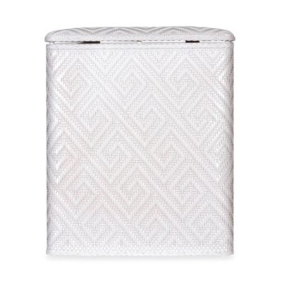 Athena Upright Hamper in White