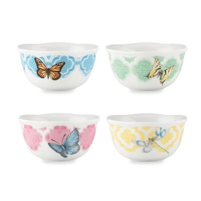 Lenox® Butterfly Meadow® 4.75-Inch Trellis Dessert Bowls (Set of 4)