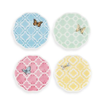 Lenox® Butterfly Meadow® 8-Inch Trellis Dessert Plates (Set of 4)