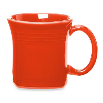 Fiesta® Square Mug in Poppy