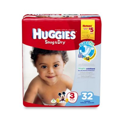 Huggies® Snug & Dry 32-Count Size 3 Jumbo Pack Diapers
