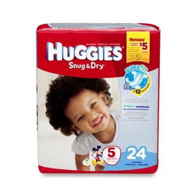 Huggies® Snug & Dry 24-Count Size 5 Jumbo Pack Diapers
