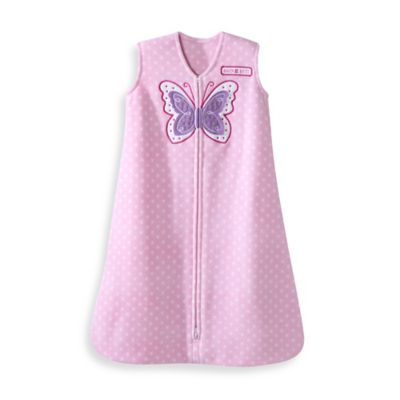 HALO® SleepSack® Small Fleece Wearable Blanket in Butterfly Dots