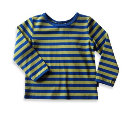 Marimekko® Size 2T Long-Sleeve T-Shirt in Blue and Green Stripe