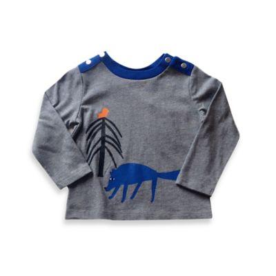 Marimekko® Size 18M Wolf Long-Sleeve T-Shirt in Heather Grey