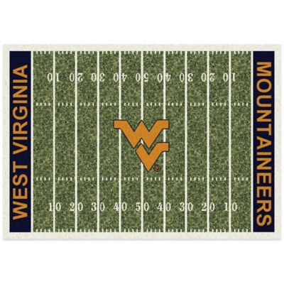 West Virginia University 5-Foot 4-Inch x 7-Foot 8-Inch Medium Home Field Rug