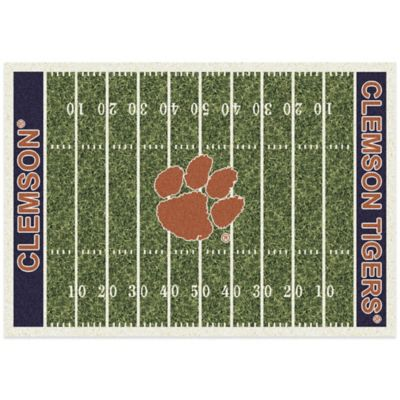 Clemson University 3-Foot 10-Inch x 5-Foot 4-Inch Small Home Field Rug