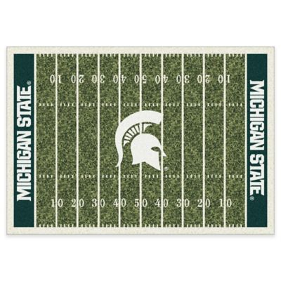 Michigan State University 5-Foot 4-Inch x 7-Foot 8-Inch Medium Home Field Rug