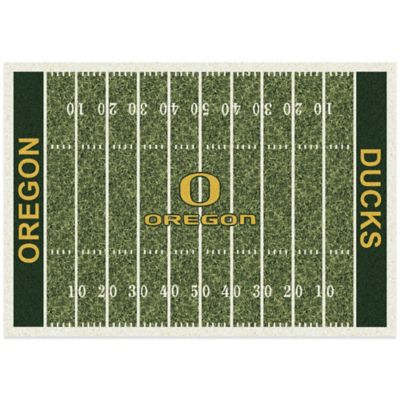 University of Oregon 3-Foot 10-Inch x 5-Foot 4-Inch Small Home Field Rug