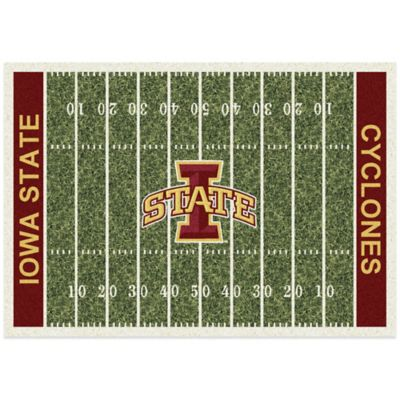 Iowa State University 3-Foot 10-Inch x 5-Foot 4-Inch Small Home Field Rug