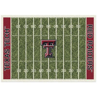 Texas Tech University 5-Foot 4-Inch x 7-Foot 8-Inch Medium Home Field Rug