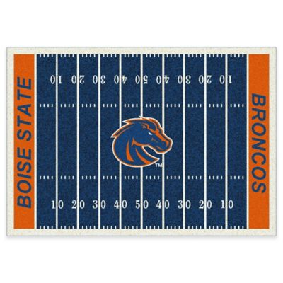 Boise State University 3-Foot 10-Inch x 5-Foot 4-Inch Small Home Field Rug
