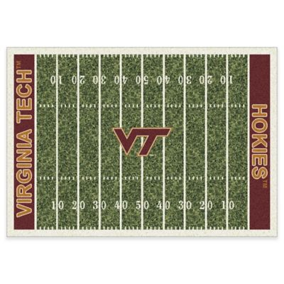 Virginia Tech 5-Foot 4-Inch x 7-Foot 8-Inch Medium Home Field Rug
