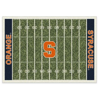 Syracuse University 5-Foot 4-Inch x 7-Foot 8-Inch Medium Home Field Rug
