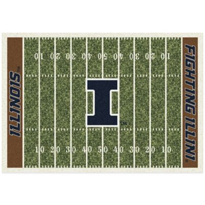 University of Illinois 5-Foot 4-Inch x 7-Foot 8-Inch Medium Home Field Rug