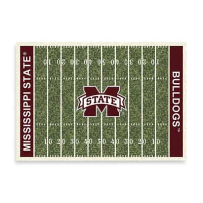 Mississippi State University 3-Foot 10-Inch x 5-Foot 4-Inch Small Home Field Rug