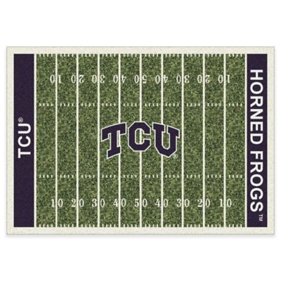 Texas Christian University 3-Foot 10-Inch x 5-Foot 4-Inch Small Home Field Rug