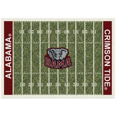 University of Alabama 5-Foot 4-Inch x 7-Foot 8-Inch Medium Home Field Rug