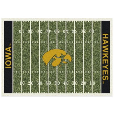 University of Iowa 5-Foot 4-Inch x 7-Foot 8-Inch Medium Home Field Rug