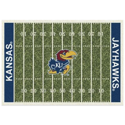 University of Kansas 5-Foot 4-Inch x 7-Foot 8-Inch Medium Home Field Rug