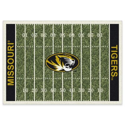 University of Missouri 3-Foot 10-Inch x 5-Foot 4-Inch Small Home Field Rug