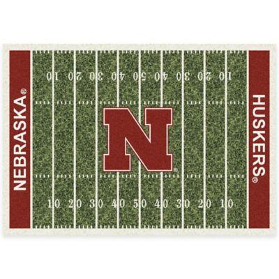 University of Nebraska 5-Foot 4-Inch x 7-Foot 8-Inch Medium Home Field Rug