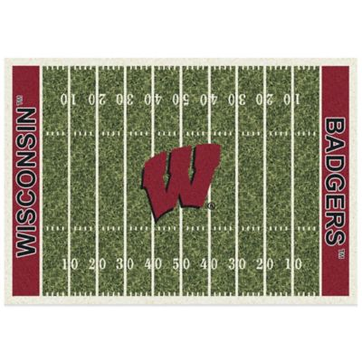 University of Wisconsin 3-Foot 10-Inch x 5-Foot 4-Inch Small Home Field Rug
