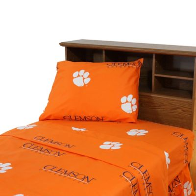 Clemson University Twin Sheet Set