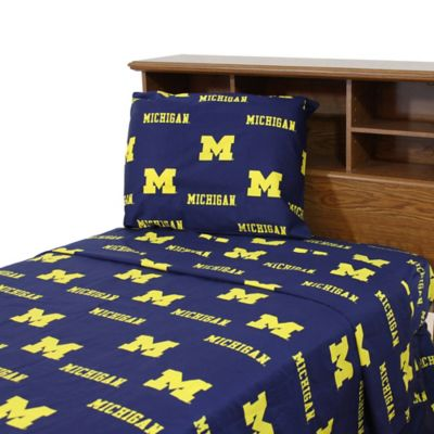 University of Michigan Twin Sheet Set