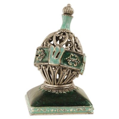 Quest Collection Aqua Oval Dreidel with Stand
