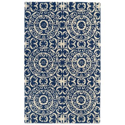 Kaleen Evolution 5-Foot x 7-Foot 9-Inch EVL03 Rug in Navy